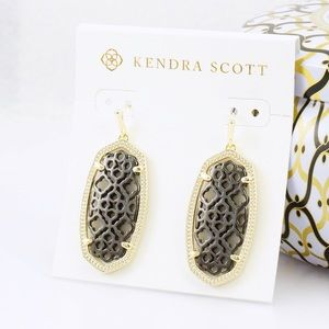 KS Elle Filigree gold color earrings